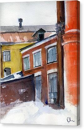 Winter In The City Canvas Print by Lelia Sorokina