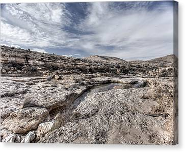 Canvas Print featuring the photograph Winter In The Desert by Uri Baruch