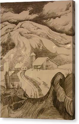 Winter In Truckee Canvas Print