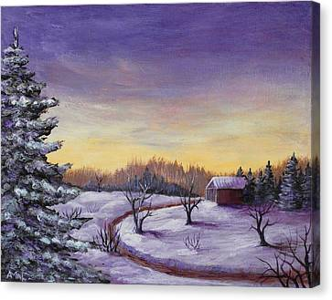 Winter In Vermont Canvas Print by Anastasiya Malakhova