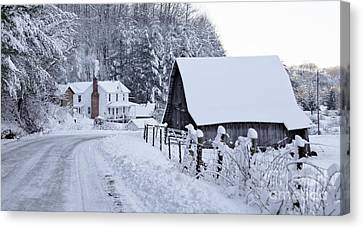 Winter In Virginia Canvas Print by Benanne Stiens
