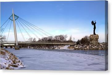 Winter In Wichita Canvas Print by JC Findley