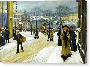 Winter Into Kongens Canvas Print