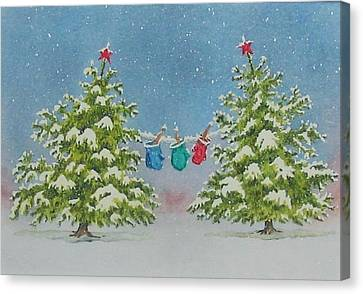 Winter Is Fun Canvas Print by Mary Ellen Mueller Legault