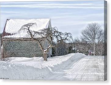 Winter Is Our Guest Canvas Print by Richard Bean