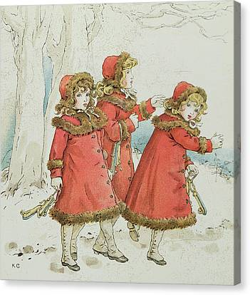 Winter Canvas Print by Kate Greenaway
