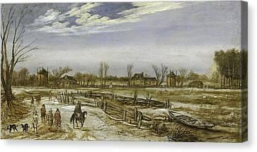 Winter Landscape, 1614 Canvas Print