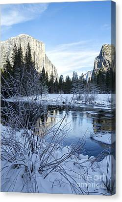 Canvas Print - Winter Landscape In Yosemite California by Julia Hiebaum