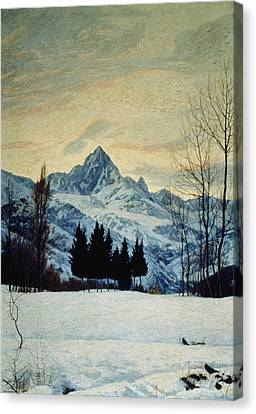 Winter Landscape Canvas Print by Matteo Olivero