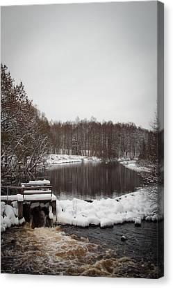 Winter Landscape Canvas Print by Robert Hellstrom