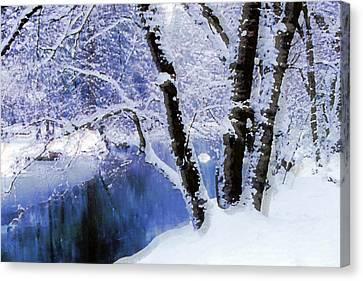 Winter Landscape Yosemite Valley Canvas Print