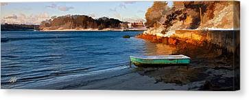 Cape Cod Canvas Print - Winter Light At Quissett by Michael Petrizzo