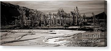 Canvas Print featuring the photograph Winter Light by J L Woody Wooden