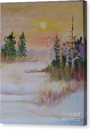 Canvas Print featuring the painting Winter Light by Julie Todd-Cundiff