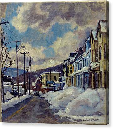 Thor Canvas Print - Winter Light North Adams by Thor Wickstrom