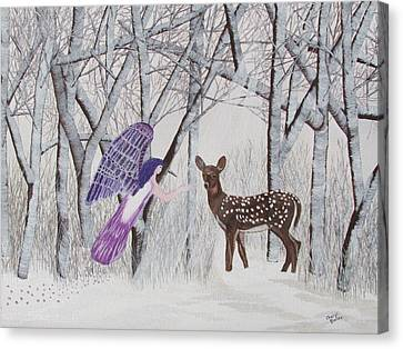 Canvas Print featuring the painting Winter Magic by Cheryl Bailey