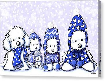 Winter Maltese Boys Canvas Print by Kim Niles