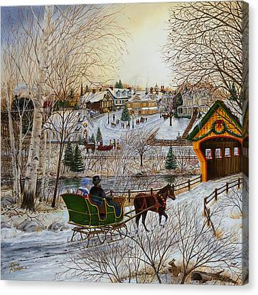 Winter Memories 1 Of 2 Canvas Print by Doug Kreuger