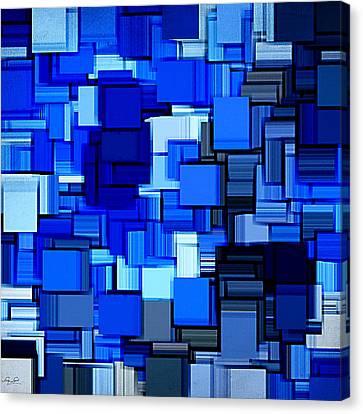 Winter Modern Abstract Xix Canvas Print