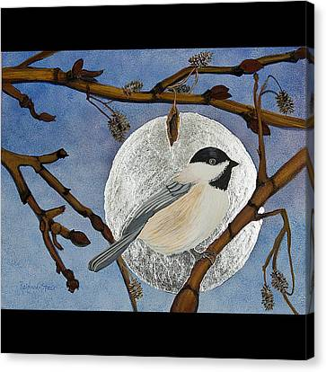 Winter Moon Canvas Print by Amy Reisland-Speer