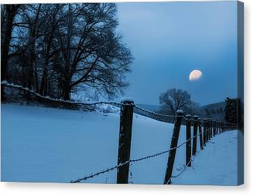 Winter Moon Canvas Print by Bill Wakeley