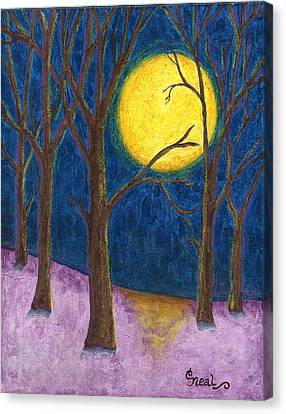 Winter Moon Canvas Print