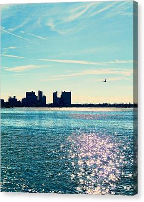 Staten Island Canvas Print - Winter Morning Gravesend Bay by Jon Woodhams