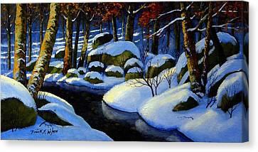 Winter Morning Light Canvas Print by Frank Wilson