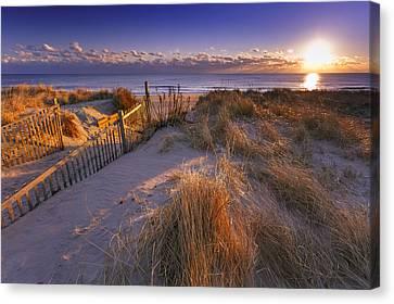 Nauset Beach Canvas Print - Winter Morning On Nauset Beach by Dapixara Art
