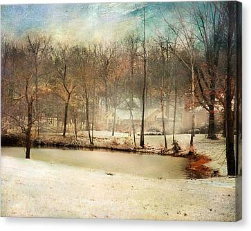 Winter Morning Pond Canvas Print by Jai Johnson