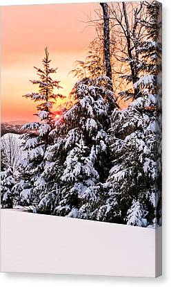 Winter Morning Sunrise Canvas Print by Jay Seeley