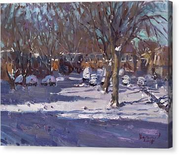Winter Morning Canvas Print by Ylli Haruni