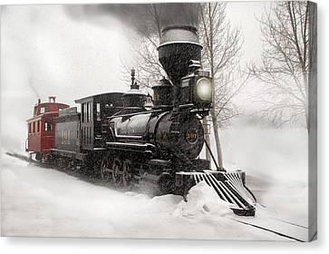 Winter Narrow Gauge Steam Canvas Print by Ken Smith