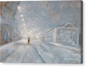 Winter Night Canvas Print by Martin Capek