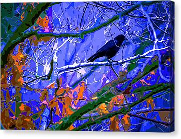 Bare Trees Canvas Print - Winter Night Roost by Brian Stevens