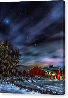 Canvas Print featuring the photograph Winter Night by Rose-Maries Picturtes