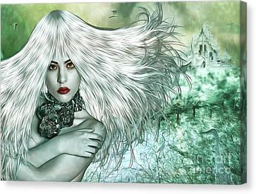 Canvas Print featuring the digital art Winter by Nola Lee Kelsey