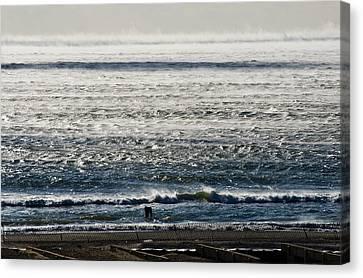 Winter Ocean Rockaway Beach Canvas Print