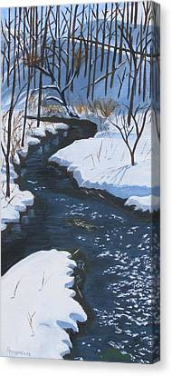 Winter On Penns Creek Canvas Print