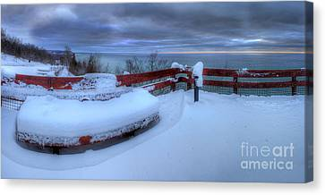 Winter On The Arcadia Overlook Canvas Print by Twenty Two North Photography