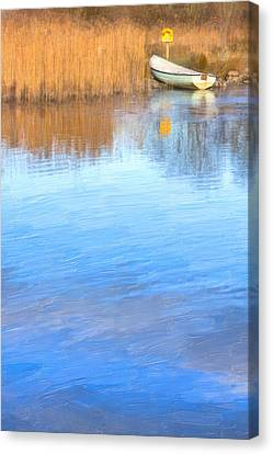 Winter On The Corrib In Galway Canvas Print by Mark Tisdale