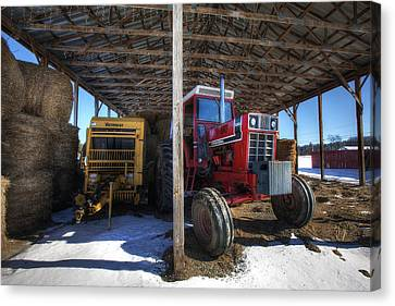 Winter On The Farm Canvas Print by Eric Gendron