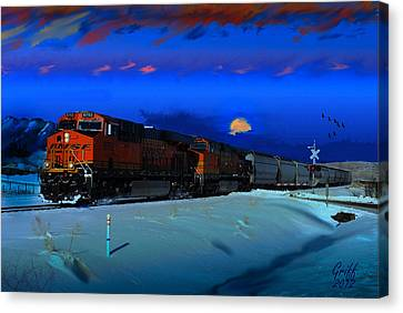 Winter On The Joint Line Of Colorado Canvas Print by J Griff Griffin