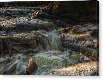 Winter On The Rocky River 1 Canvas Print by Michael Demagall