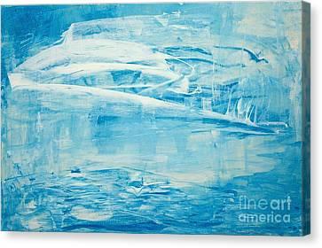 Winter On Walden Canvas Print by Marylin McDonald-Dorsey