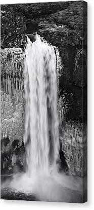 Winter Palouse Falls Vertical Canvas Print by Mark Kiver