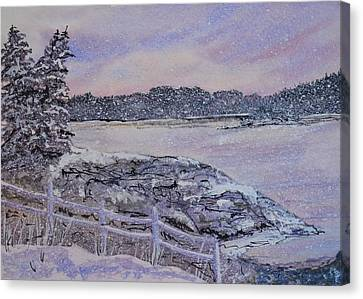 Winter Passion Canvas Print by Kellie Chasse