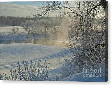 Canvas Print featuring the photograph Winter Pastorale II by Jessie Parker