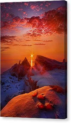 Winter Peaks Canvas Print