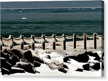 Winter Point Breeze Canvas Print by Michael Allen